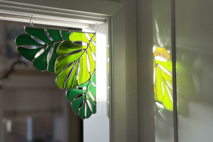 I Got Into Making Stained Glass During Quarantine - My Favorite Things To Make Are Corners Like This