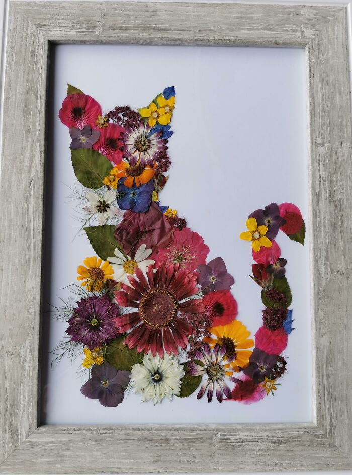 My Wife Presses Flowers Then Creates Pieces Like This. I Love This One