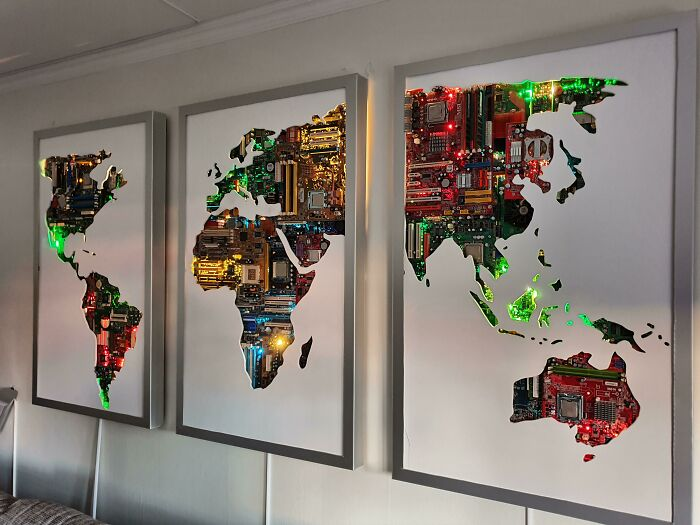 I Turned Some Unused Circuit-Boards Into A Map