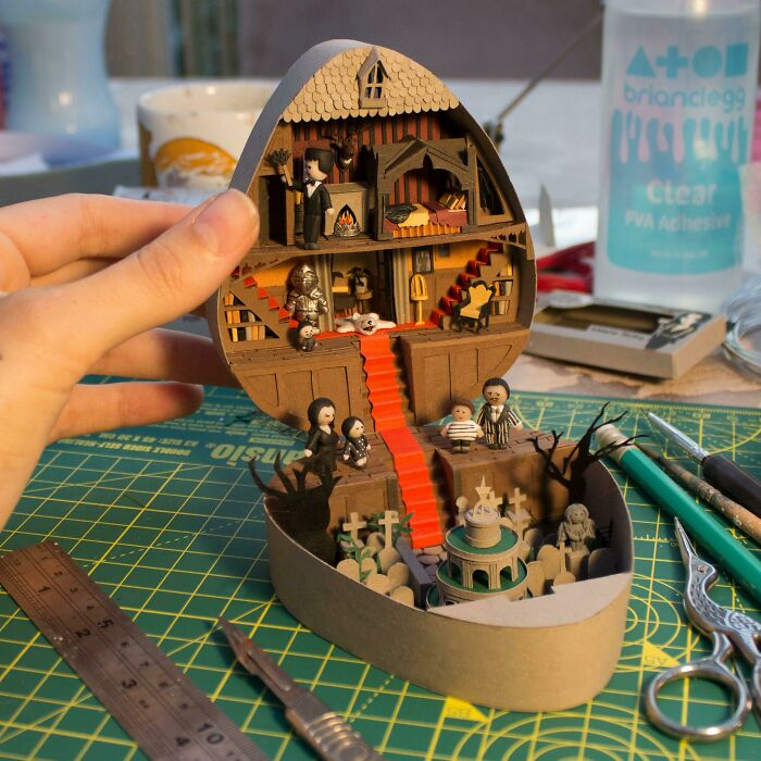 I Spent Way Too Long On This.. Addams Family 'Polly Pocket' Style Playset