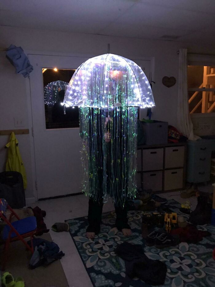 I Wanted To Be A Jellyfish For Halloween. It Turned Out Better Than I Thought