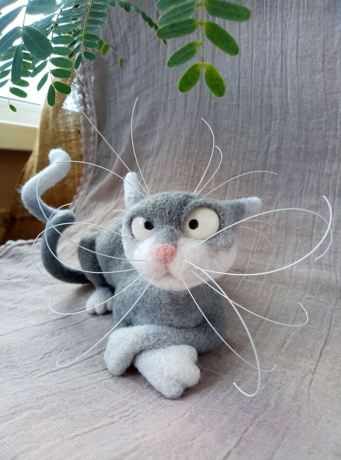 I'm Addicted To Making Felted Cats. What Do You Guys Think?
