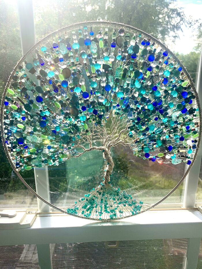 DIY Tree Of Life Suncatcher