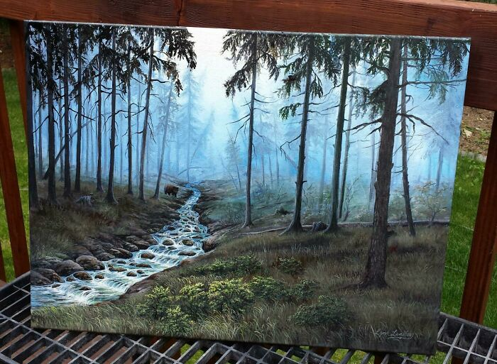 My Mom Is A Painter. Here Is One Of Her Latest Pieces!