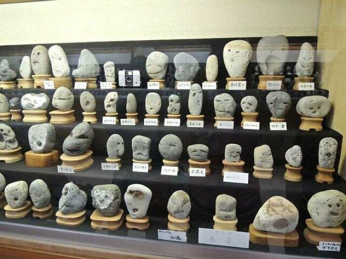 A Museum In Japan That Has Rocks That Look Like Faces