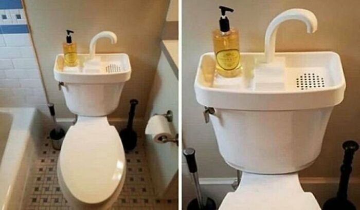 On Many Japanese Toilets, The Hand Wash Sink Is Attached So That You Can Wash Your Hands And Reuse The Water For The Next Flush. Japan Saves Millions Of Liters Of Water Every Year Doing This