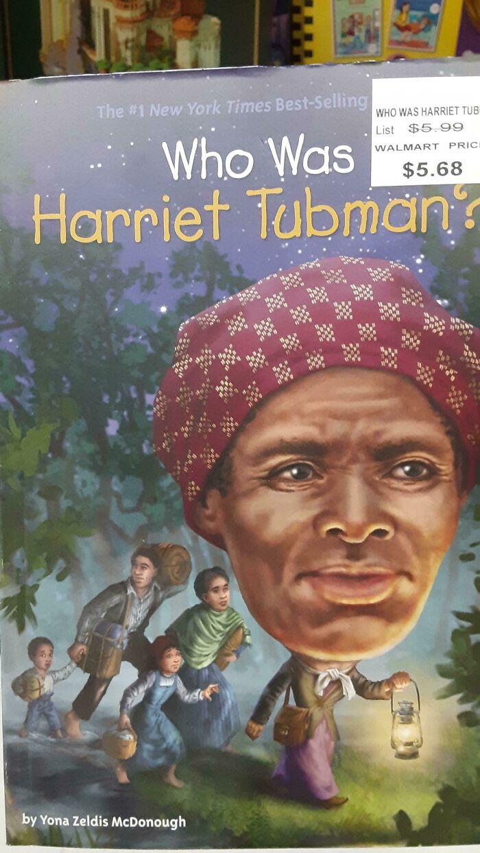 Esta ilustración en un libro sobre Harriet Tubman