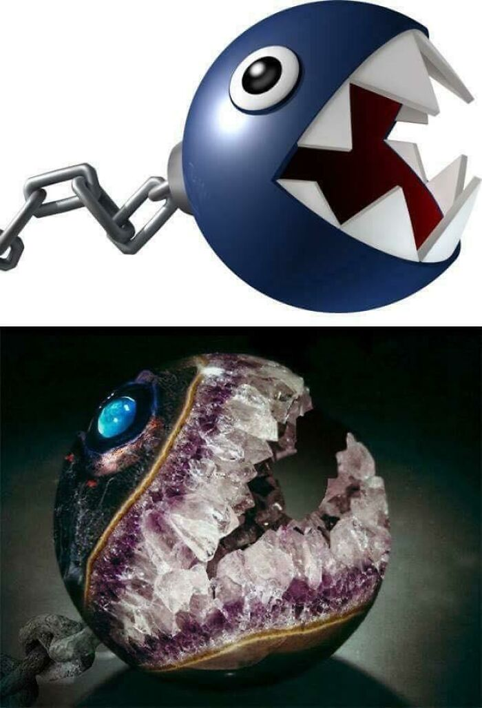 Chain Chomp Made From Amethyst