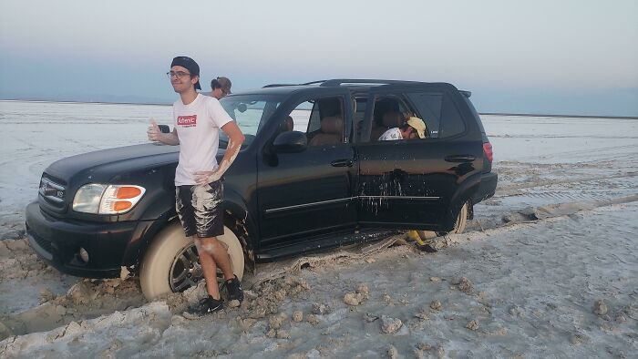 We Are The Idiots That Got Stuck Out In The Bonneville Salt Flats Yesterday
