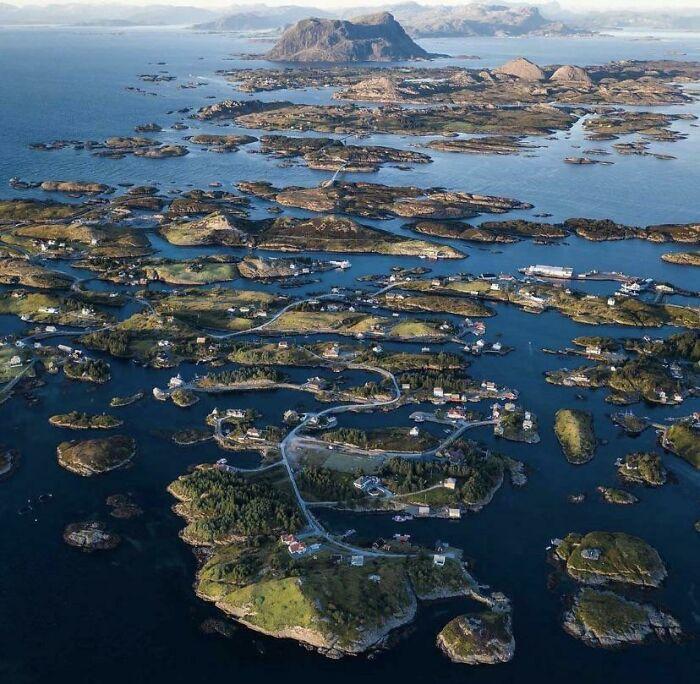 Un archipiélago en Noruega
