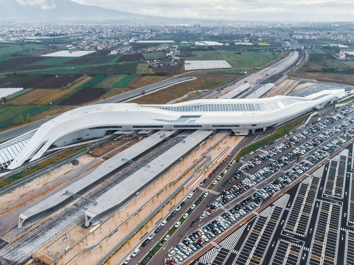 Napoli Afragola High Speed Rail Station In Italy