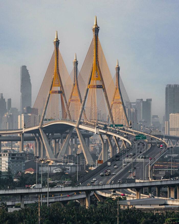 Puente Bhumibol, Bangkok, Tailandia