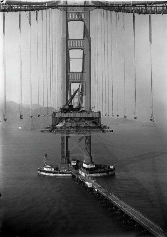 Golden Gate Bridge Bring Constructed In 1935