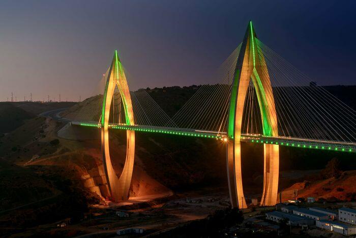 Highest Suspension Bridge In Africa - Mohamed Vi - Rabat, Morocco