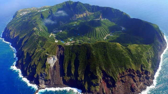 Aogashima Is An Isolated Village In Tokyo That Is Inside A Volcano That Has Another Mini Volcano Inside It