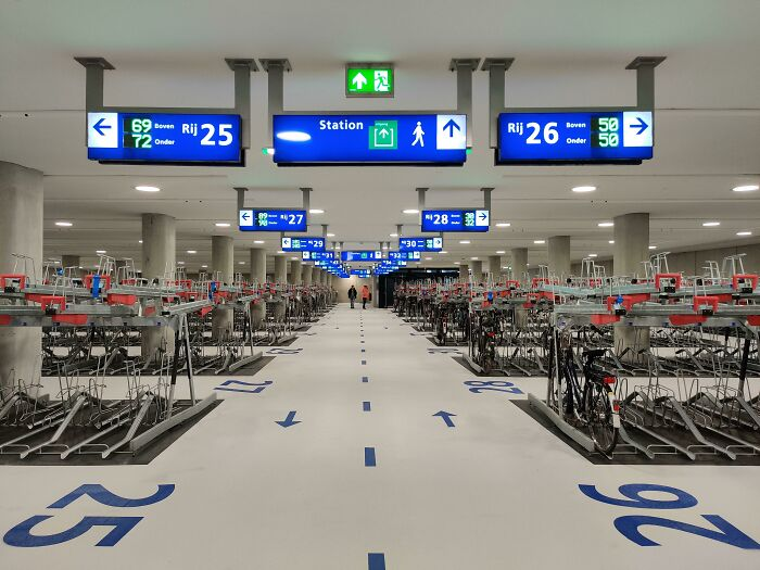 Our New Bicycle Parking Has Opened Today With 5475 Spots