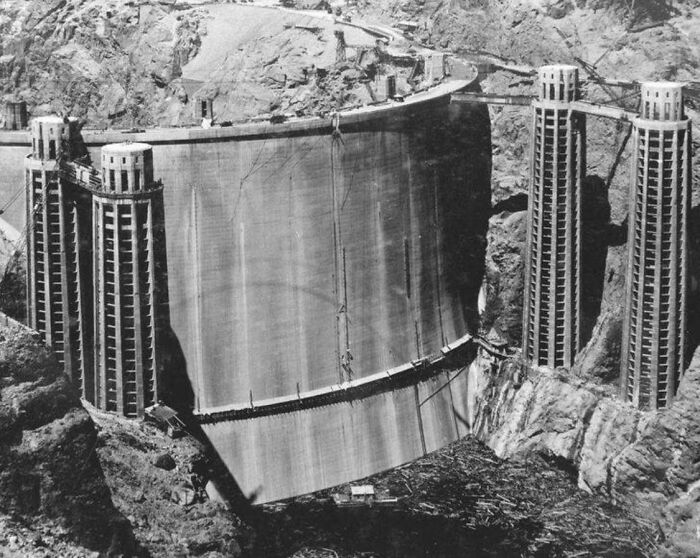 The Back Side Of Hoover Damn, Under Water Since 1936