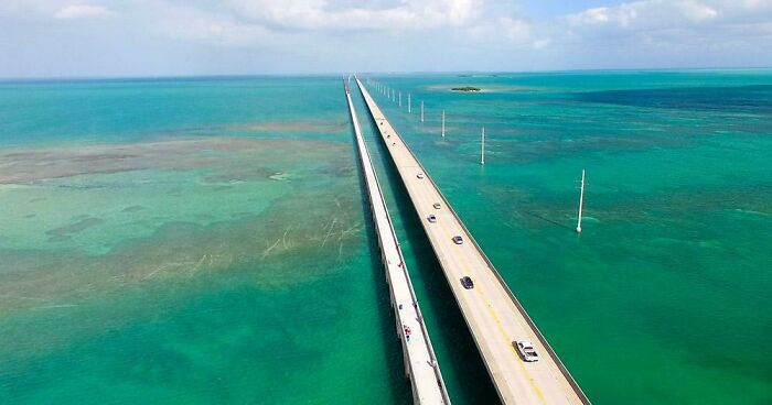 7 Mile Bridge To Key West, Florida