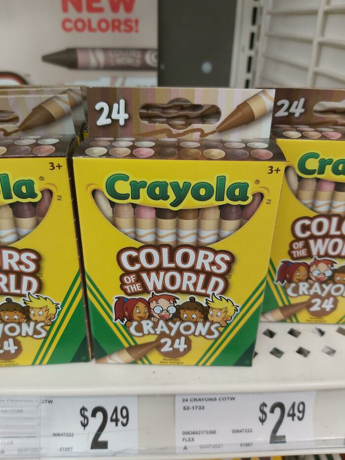 I Found The Elusive Skin Colour Crayon Box At Michael's Today