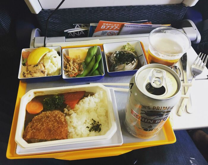 Economy Class Meal On Japanese Airline