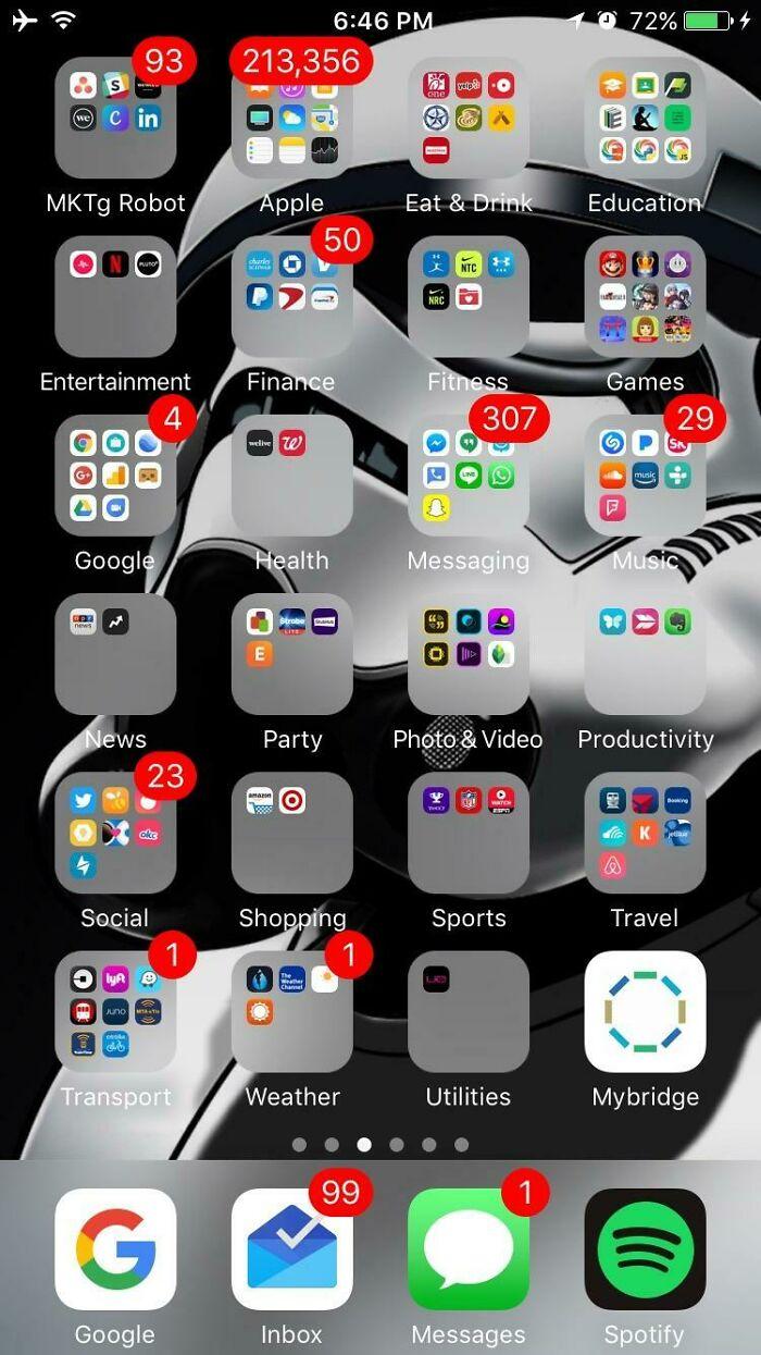 Mi amigo me sugirió que publicara la pantalla del menú de mi teléfono