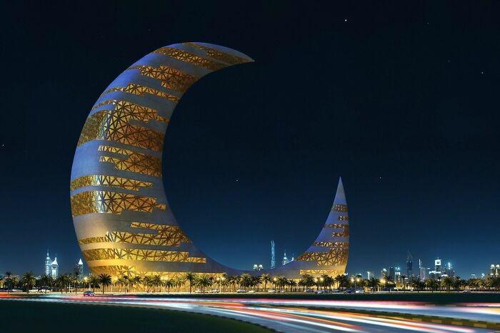 Esta es la propuesta de la Torre de la Luna Creciente para Dubai