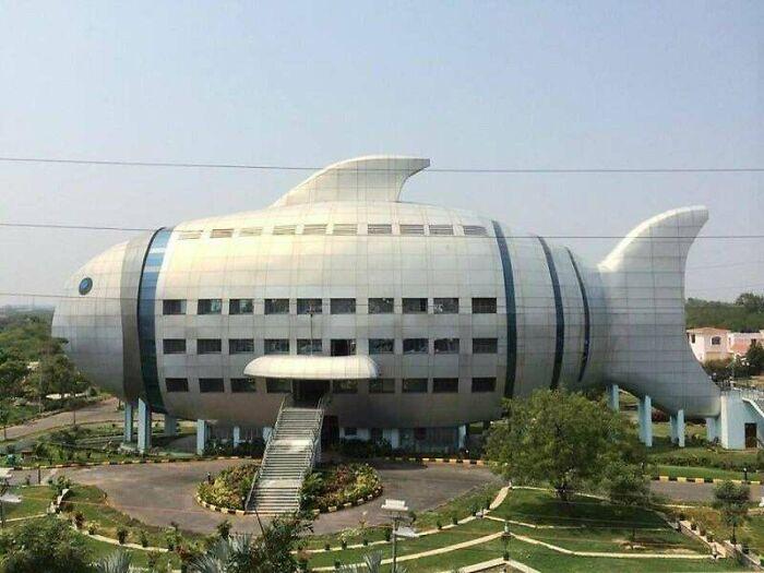 El Departamento de Pesca en Hyderabad, India