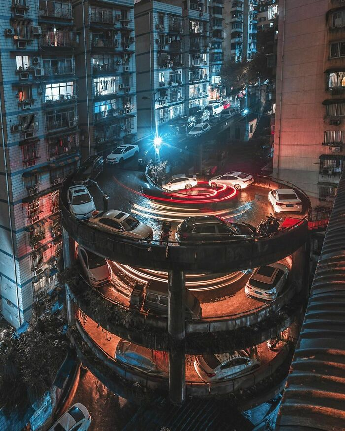 People Living Next To A Helicoidal Street In Chongqing