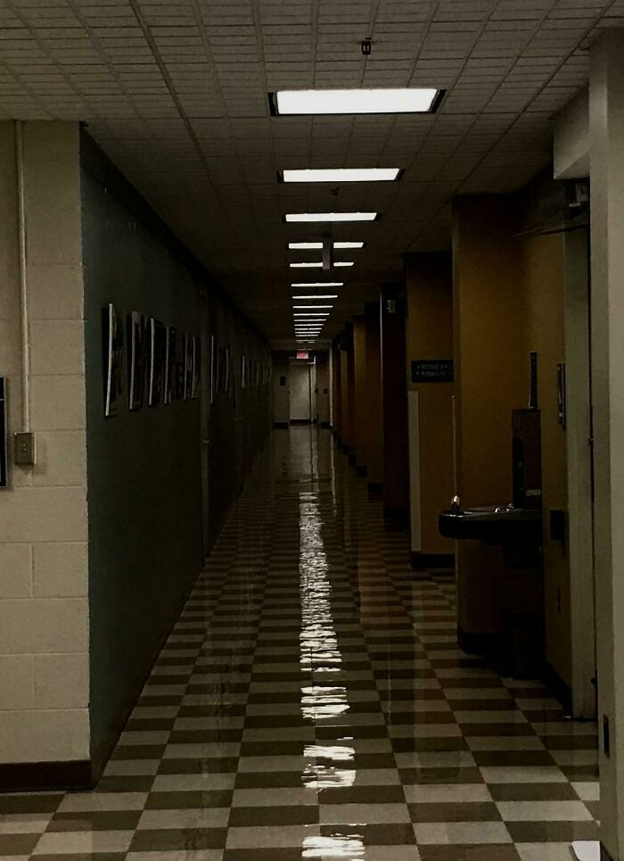 The Exam Will Take Place Down The Hall And To The Left, Good Luck