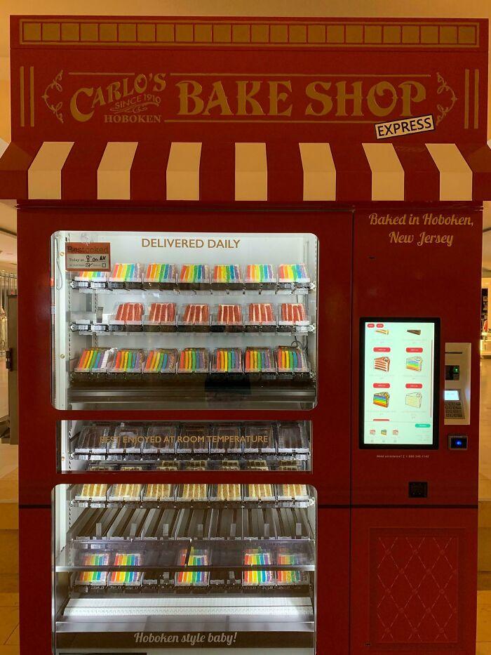 Encontré una máquina expendedora de pasteles