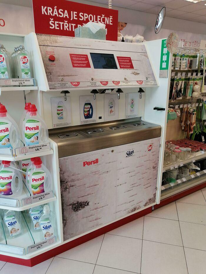 Detergente recargable en Praga, República Checa