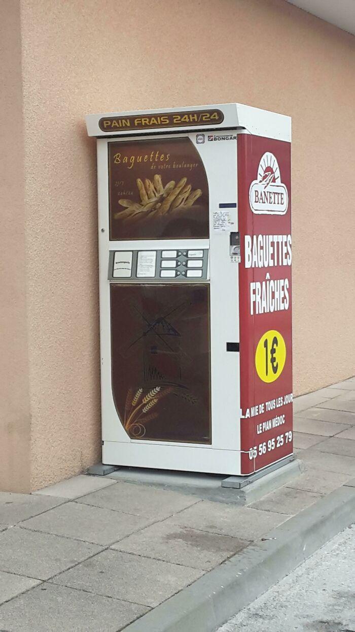 Mi ciudad tiene una máquina expendedora de baguettes