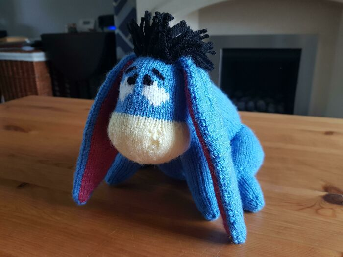 I've Been Knitting For Years But Only Recently Learnt How To Knit In The Round. This Is One Of My First Projects And I Love Him!