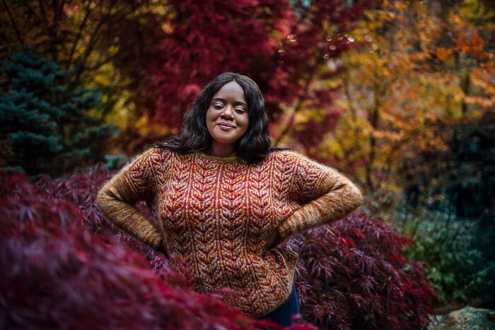 Broadleaf Sweater In The Stunning Maple Trees Of Vancouver, Bc