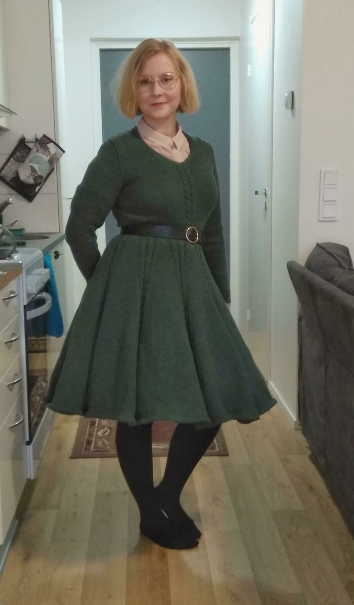 Wish I Had A Better Camera And/Or More Light To Show Off This Dress! Vintage Pattern From 1958 (Slightly Modified)