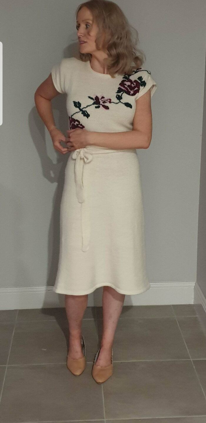 After Nearly 2 Months, I've Finished Knitting My First Dress!