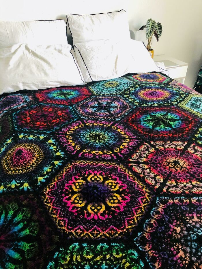 After Over Two Years Of Knitting, The Only Thing Left To Is Block My Persian Dreams!