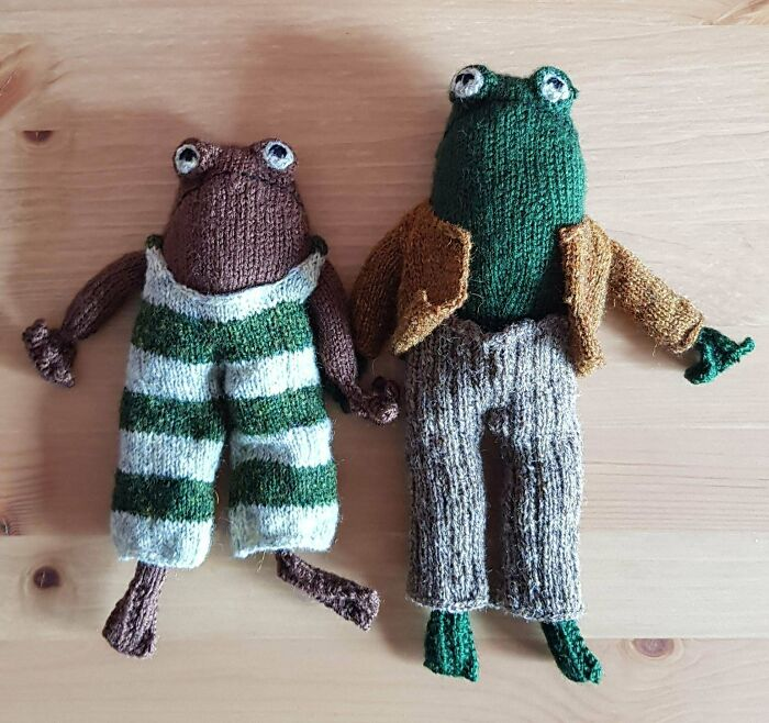 Frog And Toad Are Done! Not Quite The Same As The Pattern But I Love Them