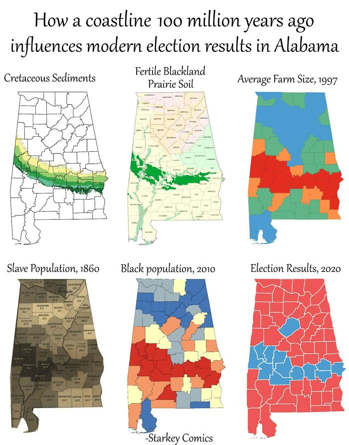 How A Coastline 100 Million Years Ago Influences Modern Election Results In Alabama