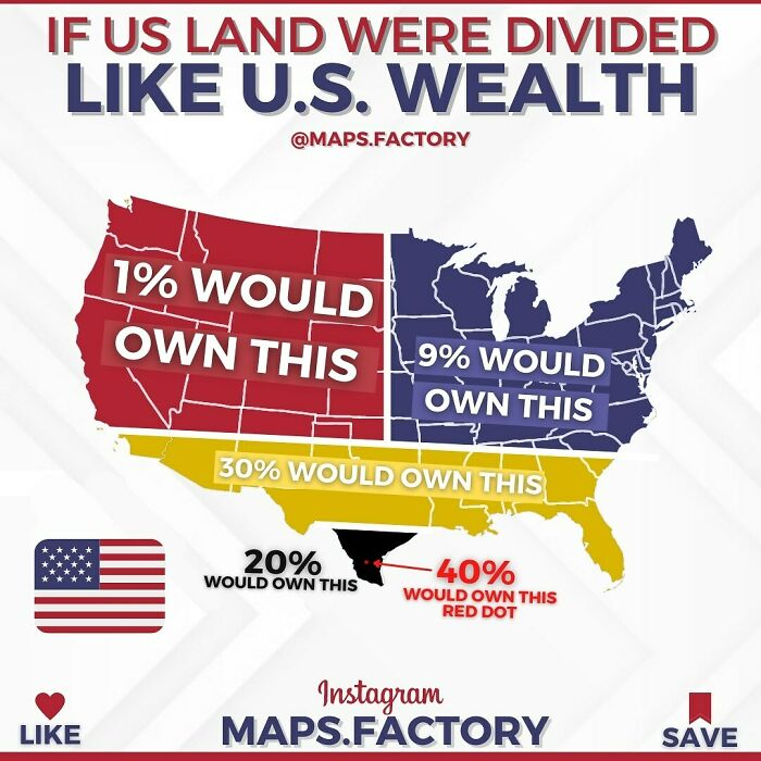 If US Land Were Divided Like US Wealth