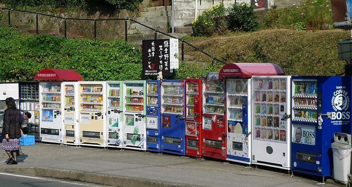 Japón tiene máquinas expendedoras de casi todo