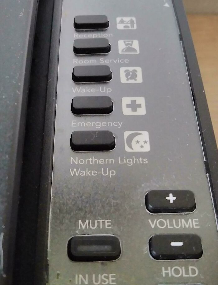 My Hotel Phone In Iceland Has A Special Button That Will Wake You Up If There Are Northern Lights In The Sky