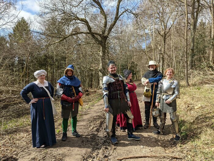 This Group We Came Across In A Forest Casually Hiking In Medieval Outfits