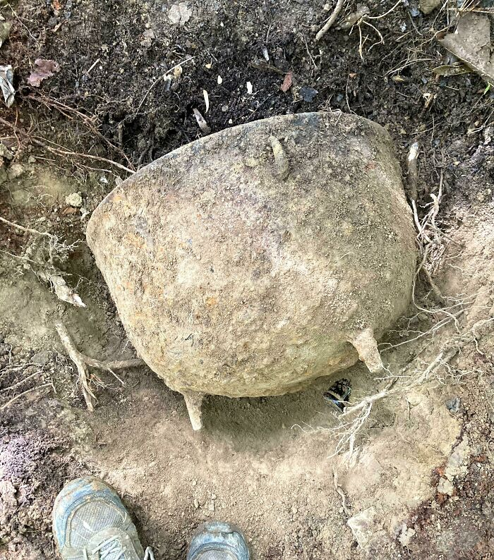 A Cast Iron Cauldron I Found Buried In My Forest