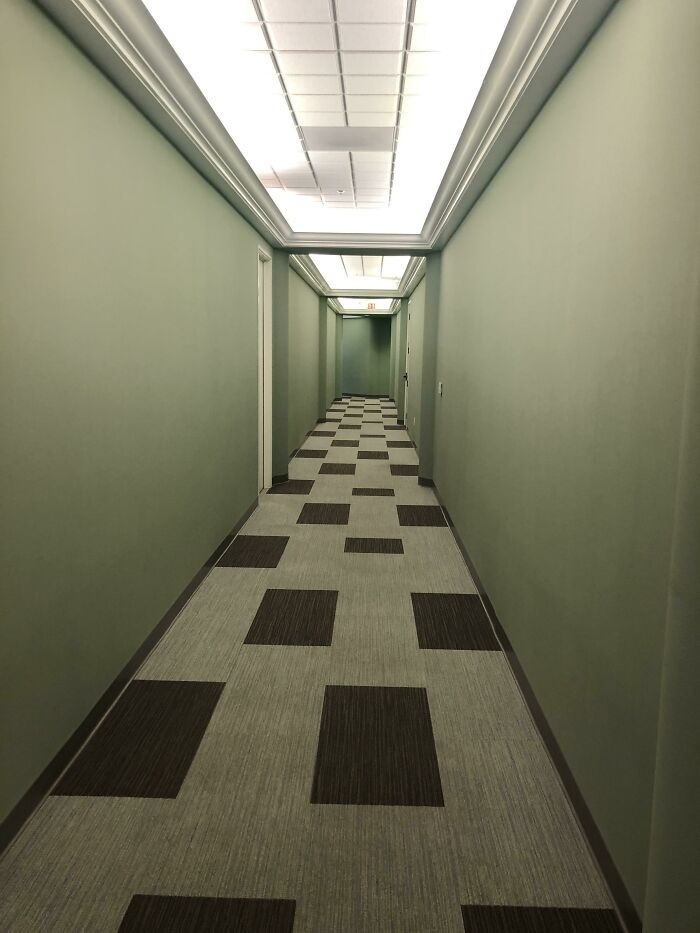 The Hallway To My Dentist Office Looks Like A Stanley Kubrick Scene
