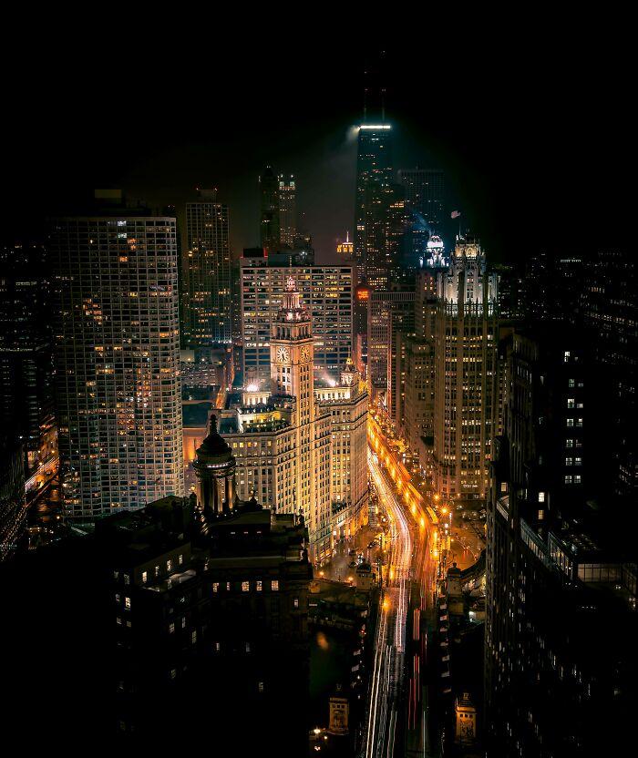 La mejor foto que he tomado en Chicago. Desde el tejado del Hard Rock Hotel