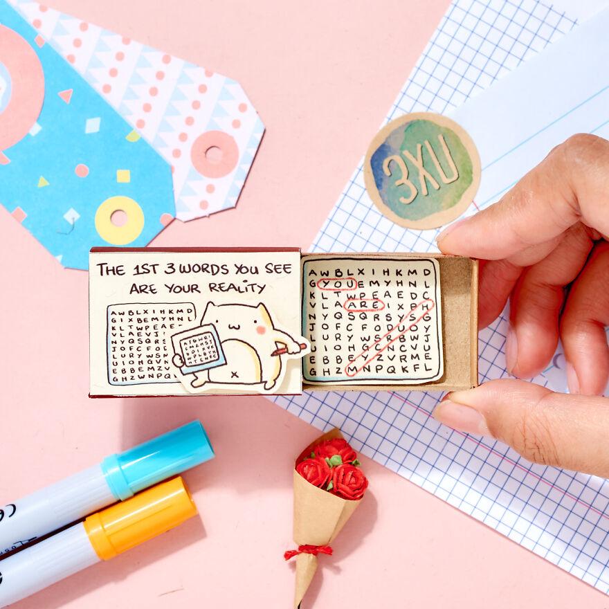 "Cute Confession Card ""You are My Crush"" Matchbox Love Card"