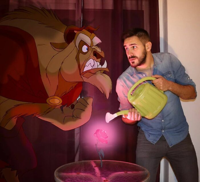 Guy Continues To Place Disney Characters Into His Photos And The Result Looks Like They're Having A Blast (30 New Pics)