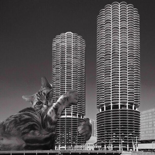 Marina City; Bertrand Goldberg, 1964-68, Chicago, Illinois