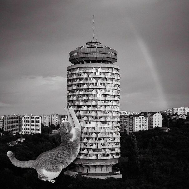 Romanita Collective Housing Tower; O. Vronsky, 1986, Chișinău, Moldova
